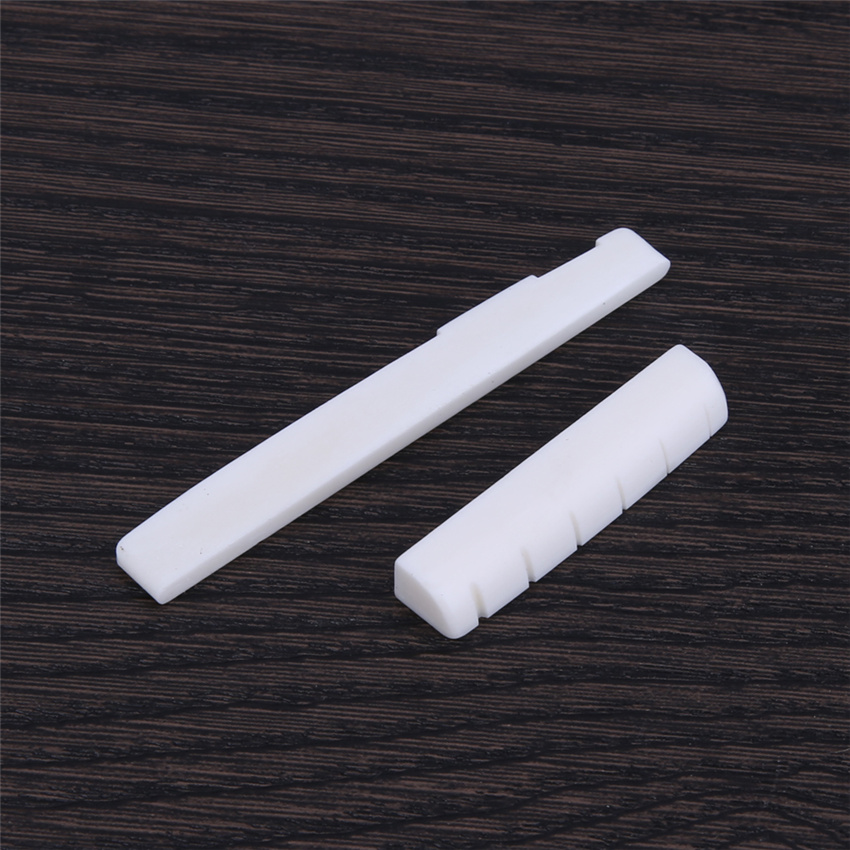 Buffalo Bone Guitar Bridge Nut Saddle for 6 String Classical Guitar White Musical Stringed Instrument Guitar Parts & Accessories