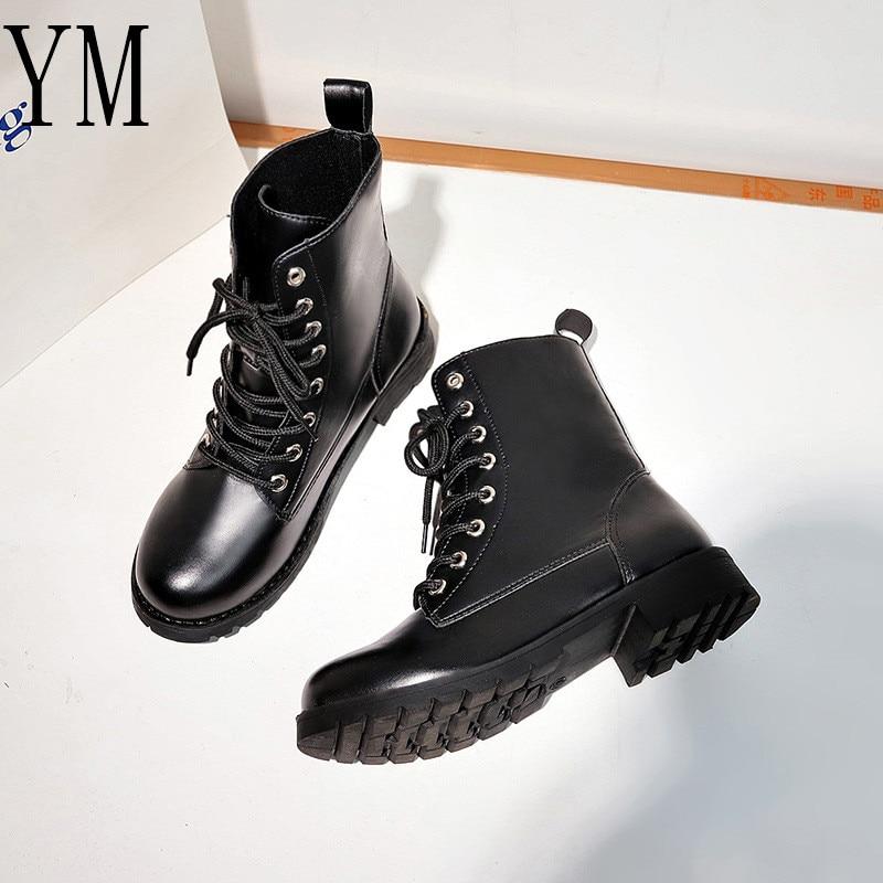 Envío 018 Tamaño Invierno 42 Las Gratis Zapatos Impermeable black Martin Mujeres Spring E H0 Otoño Caliente De 36 Con Británicas Black Botas Cotton Cuero txAwSTW5Wq