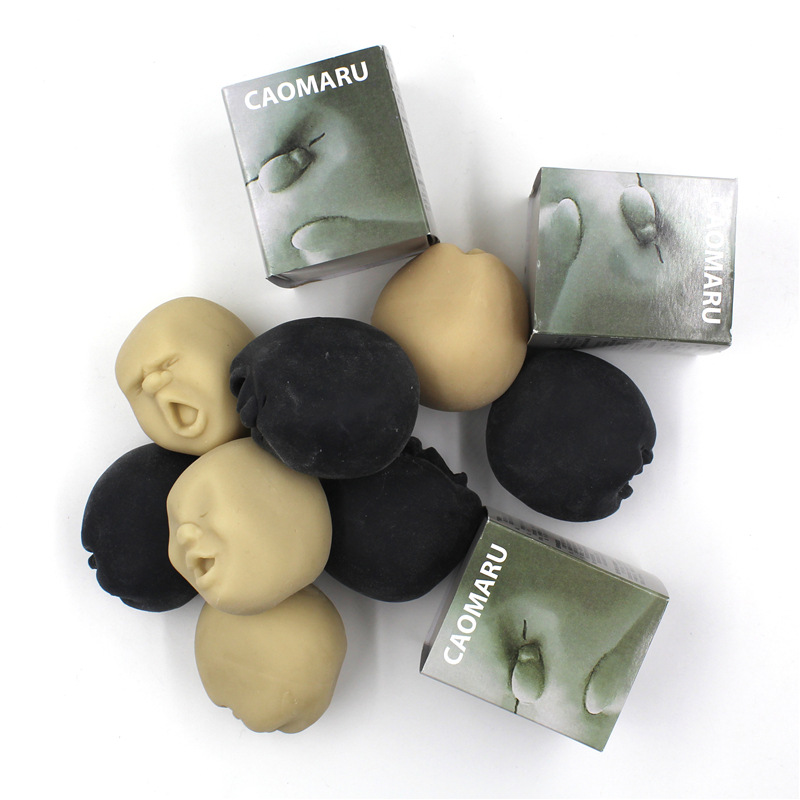 Squeeze Human Face Ball CAOMARU Novelty Stress Pressure Reliever Anti-stress