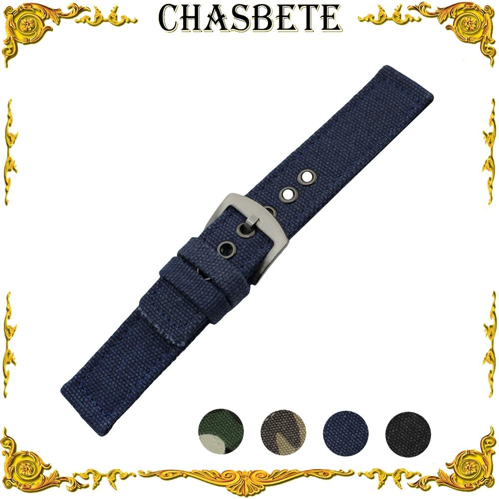 22mm Nylon Watch Band for Amazfit Huami Xiaomi Smart Watchband Pin Buckle Fabric Nato Strap Wrist Loop Belt Bracelet Blue Black survival nylon bracelet black