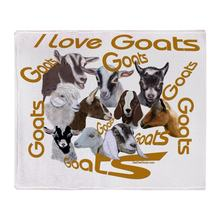 I Love Goat Breeds Soft Fleece Throw Blanket Super Soft Printing Family Car and Sofa Throws Office Quilts(China)