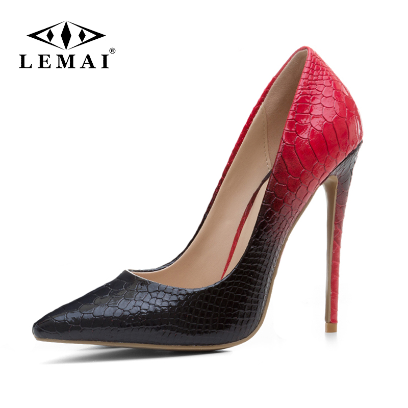 LEMAI Women Red Heel Shoes Party Wedding Woman Stilettos Pointed Toe Classic Ladies Pumps Elegant Office Dress Zapatos Mujer pointed toe women low heel work shoes girls sweet strappy dress shoes ladies heel shoes femal comfortable wedding shoes h264