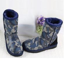 ร้อนขาย2016ที่อบอุ่นของผู้หญิงบู๊ทส์หิมะจริงหนังแกะและผ้าขนสัตว์บู๊ทส์เลดี้รองเท้าฤดูหนาวด้วยD & Rโลโก้