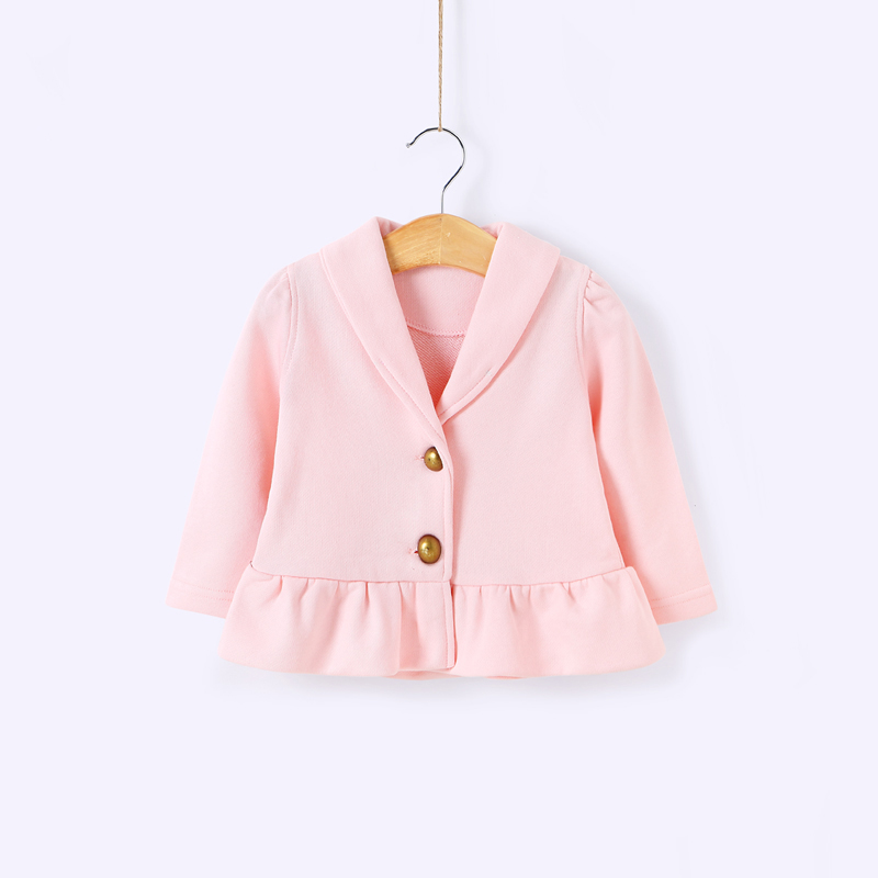 Baby cotton blouse 0-2 years old baby girl clothes cotton cardigan child fleece years female baby spring single-breasted coat