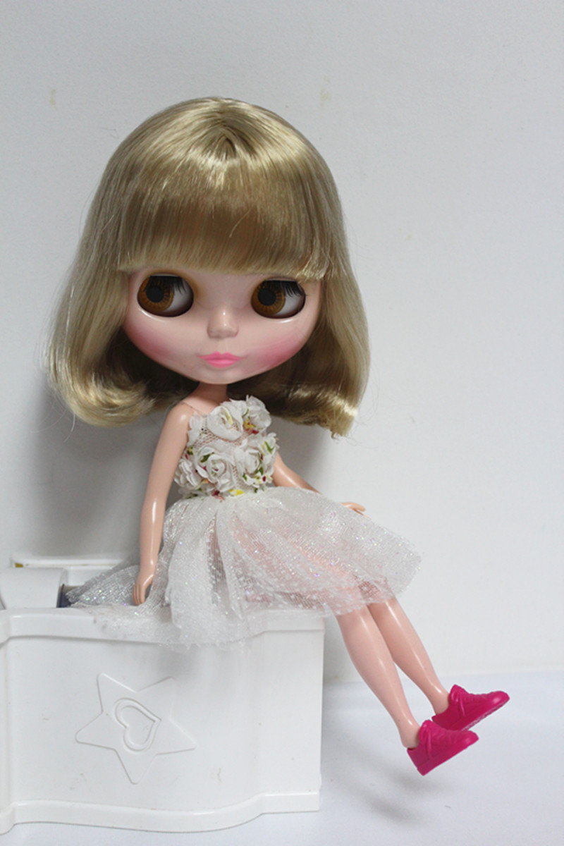 Free Shipping big discount RBL-61DIY Nude Blyth doll birthday gift for girl 4 colour big eyes dolls with beautiful Hair cute toy free shipping big discount rbl 11 15 diy nude blyth doll birthday gift for girl 4 colour big eyes with beautiful hair cute toy