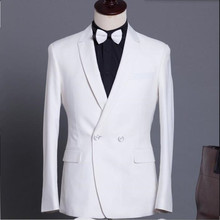 White men suits jacket Handmade bridegroom Wedding tuxedos jacket Custom Made groomsman Suit Jacket