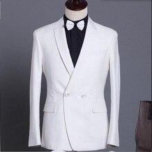 White men suits jacket Handmade bridegroom Wedding tuxedos jacket Custom Made groomsman Suit Jacket