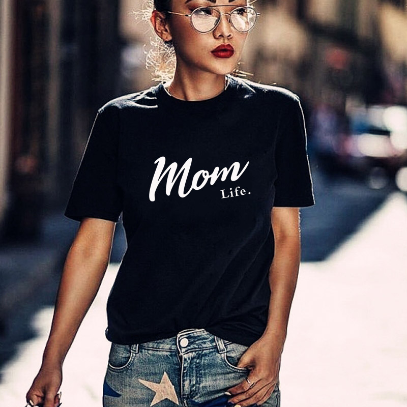 Harajuku Mom Life Shirt Mothers Day Gift Womens T Shirt Mom Life Tee Graphic Tees Summer Casual Female Tops Drop Ship