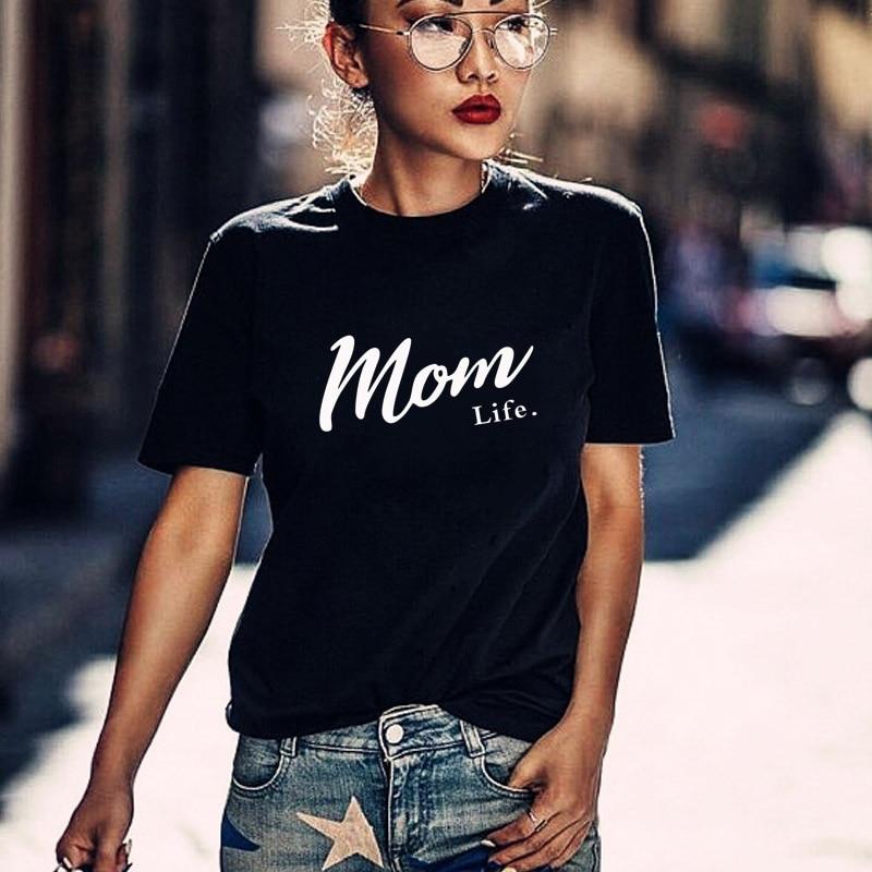 Harajuku Mom Life Shirt Mothers Day Gift Womens T Tee Graphic Tees summer casual Female Tops drop ship