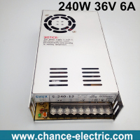 36 Volt Power Supply 110V 220V AC To 36V DC 6A 240W Single Output 36v Switching