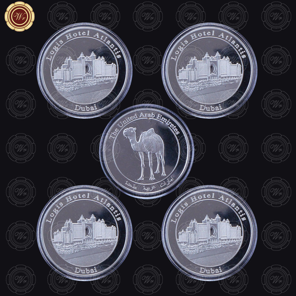 WR Home Decoration Accessories Dubai Logis Hotel Atlantis Silver Coin The United Saudi A ...