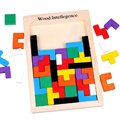 YiTao(TM) Wooden Tangram Jigsaw Tetris Puzzle Toy, Educational Game (40 Pieces)