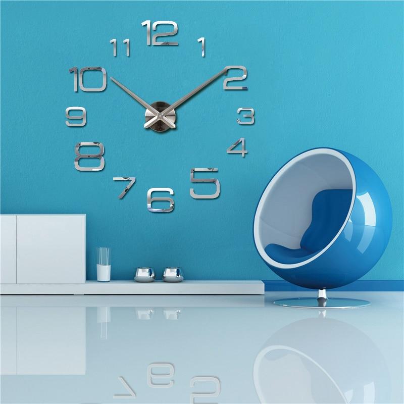 Новинка 2016 кварцевые часы настенные часы акриловое зеркало 3D часы horloge murale Reloj сравнению цифровой Гостиная Бесплатная доставка в Европу