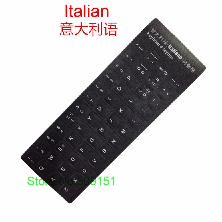 2 PCS Universal Italian Keyboard Sticker Matte Skin