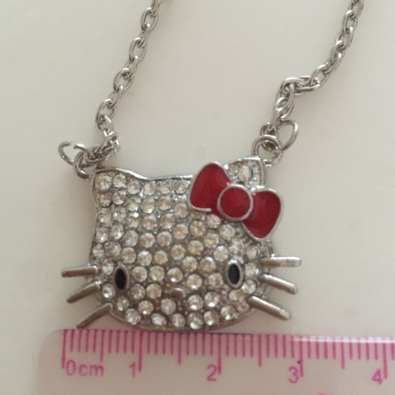 Hello Kitty Necklace in a Gift Box Fast Shipping