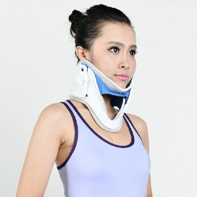 Tratamento Cervical Trator Vértebra Traction Neck Brace Suporte médico Para Dor de Garganta Espondilose Frete Grátis