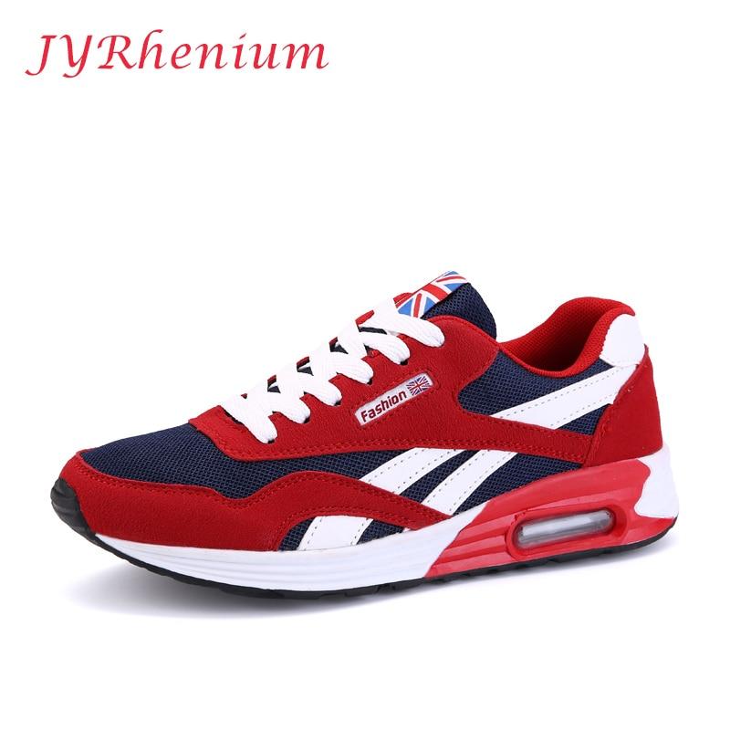 JYRhenium New Tide Men s Mesh Breathable font b Running b font Shoes Flat Shoes Men
