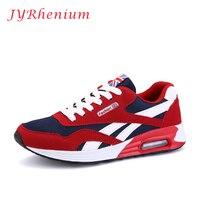 JYRhenium New Tide Men S Mesh Breathable Running Shoes Flat Shoes Men Sneakers Lace Up Comfortable