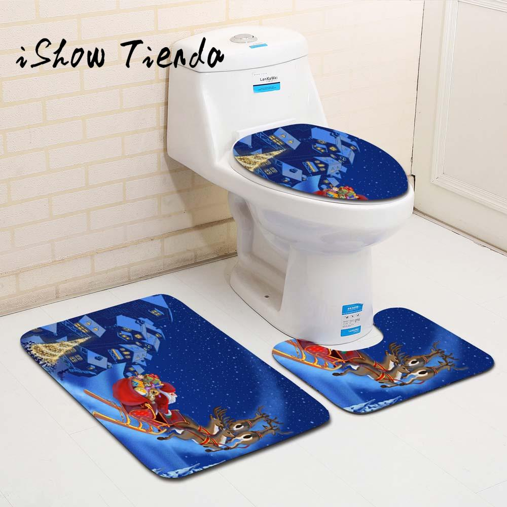 3pcs fancy santa toilet seat cover and rug bathroom set christmas decor25 in toilet seat covers from home garden on aliexpress com alibaba group