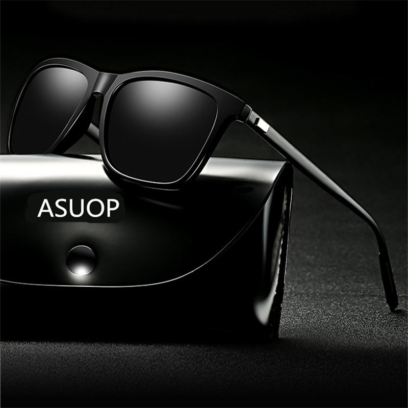 2019 new square frame polarized men's sunglasses UV400 coated anti-radiation brand ladies sunglasses sports driving sunglasses