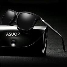 2019 new square frame polarized men's sunglasses UV400 coate