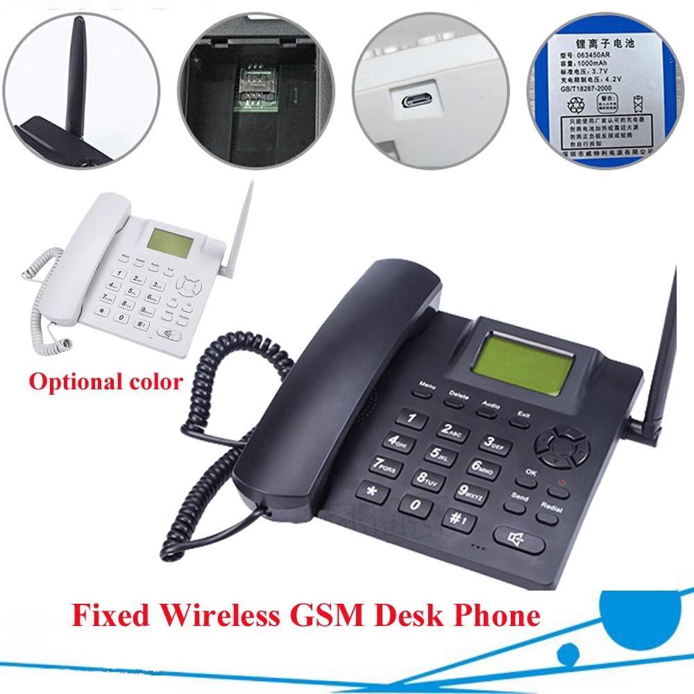 Téléphone de bureau sans fil Quadband GSM 850/900/1800/1900 MHz couleur blanche livraison gratuite