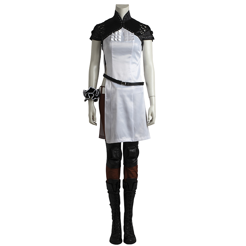 NieR Automata Popola Cosplay Costume Outfit White Dress Hot Game Custom Made Halloween Party Costume For Women Adult