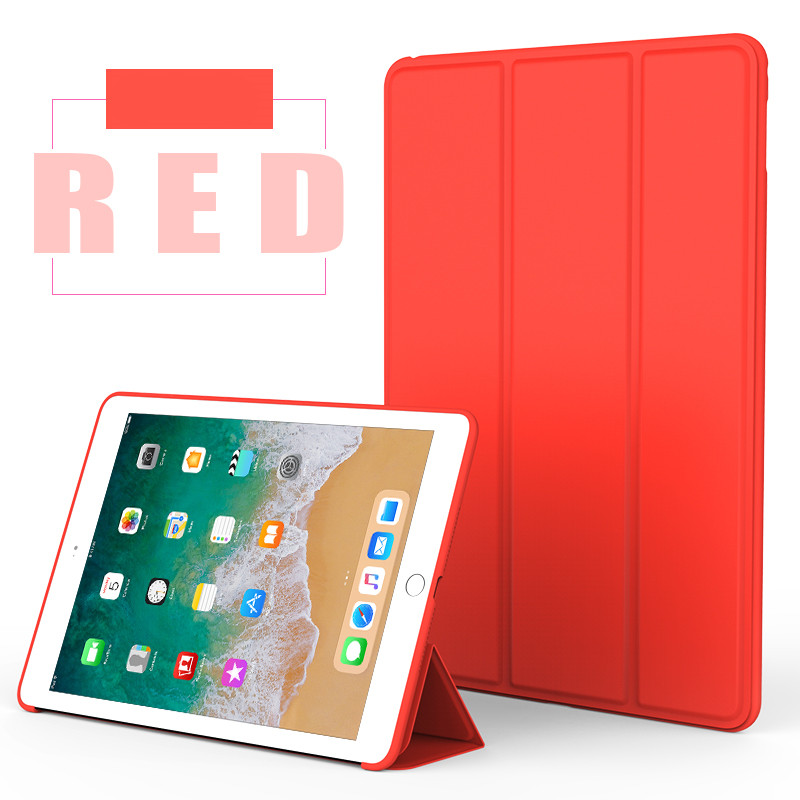 Red Monochrome smart case with silicone back for Apple iPad Pro 10.5