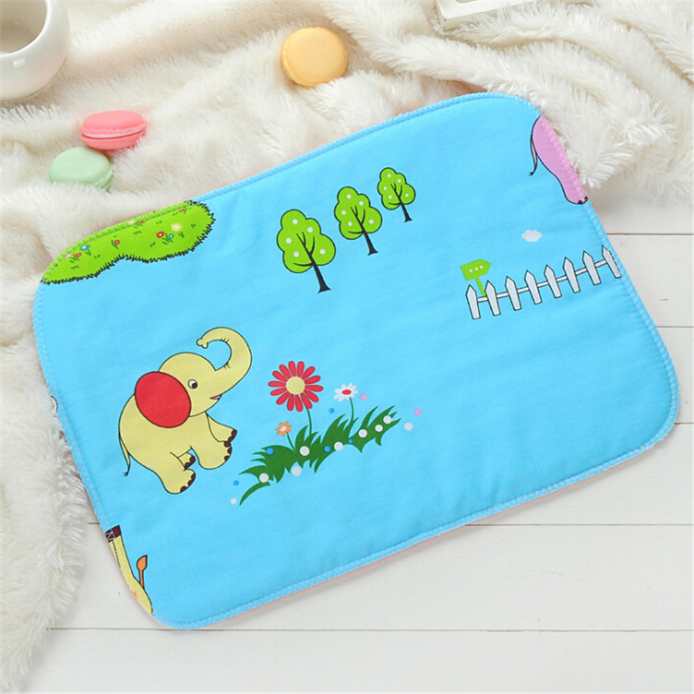 35cm*25cm  Kid Cotton Waterproof Breathable Bedding Changing Cover Pad Baby Infant Diaper Nappy Urine Mat | Happy Baby Mama