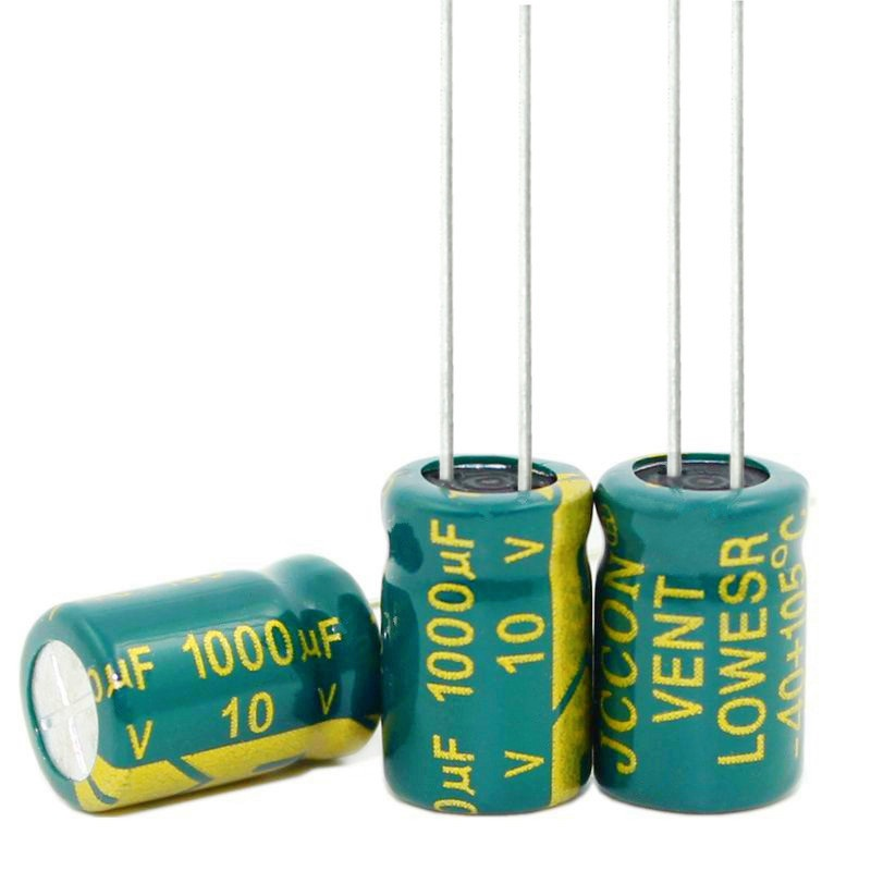 Free Shipping 100pcs 1000uf 10v Electrolytic Capacitor 1000 Size 8x12mm Original-in