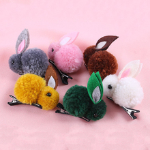 hair clip pin Korean 3D Clip For kids Cute Rabbit Girls Popular Rope  Accessories baby clips