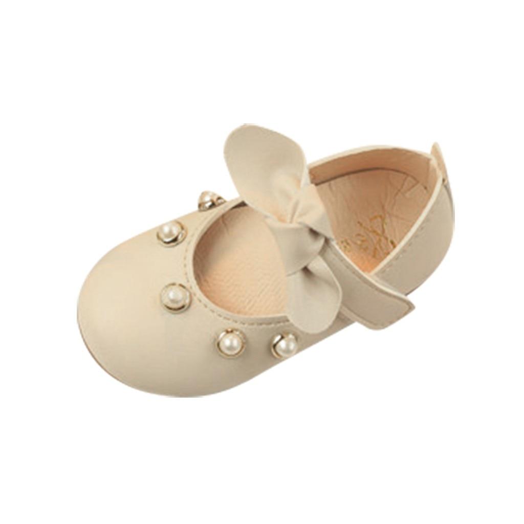 Energisch Perimedes Neugeborenen Baby Mädchen Elegante Einzelnen Schuhe Infant Kinder Baby Mädchen Elegante Bowknot Perle Einzigen Prinzessin Casual Schuhe Noch Nicht VulgäR Lederschuhe Babyschuhe