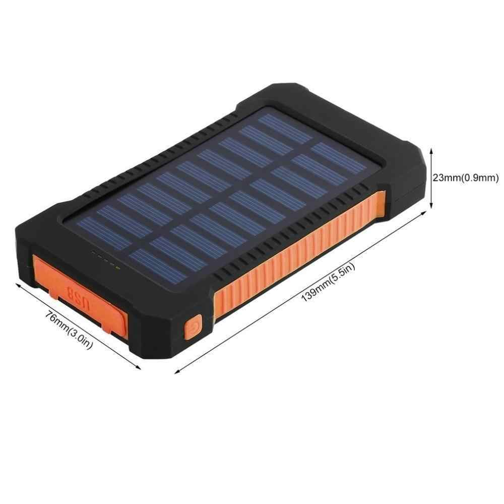 Banco de energia solar portátil 30000 mah bateria externa impermeável backup powerbank 30000 mah telefone carregador de bateria led pover bank