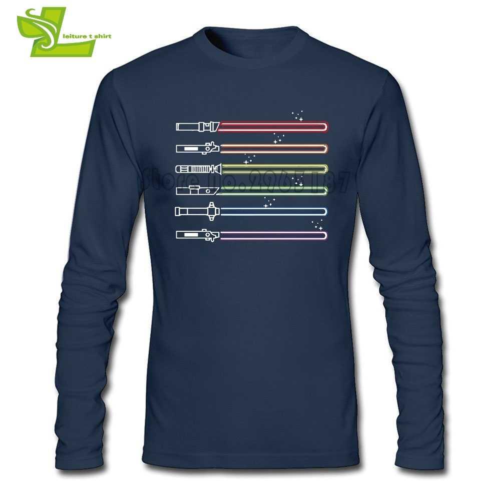 Lgbt剣光サーベルスターウォーズtシャツ男長袖ノベルティtシャツ男性tシャツ快適みんなtシャツライトセーバー