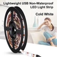 Led Tape 5V USB Fita Led Night Lamp For TV Lights Flexible Wireless 5M Neon Clothes Wardrobe Lighting SMD 2835 Bar Decoration