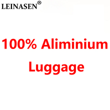 "LEINASEN sale 20""24""29"" inch 100% aluminium rolling luggage business travel suitcase aluminum spinner trolley bag on wheel"