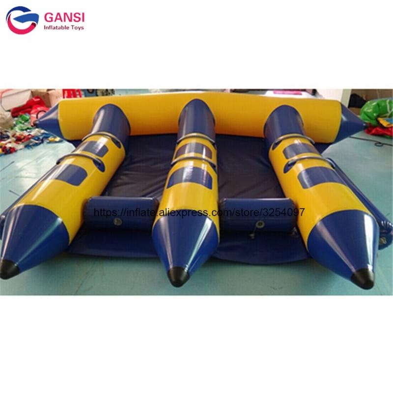 2019 heißer produkt aufblasbare wasser banana boot 4X3 m aufblasbare fliegende fische anhänge für erwachsene - 3