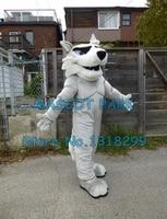 mascot light grey husky mascot costume adult size customizable huskie theme animal mascotte fancy dress carnival costumes