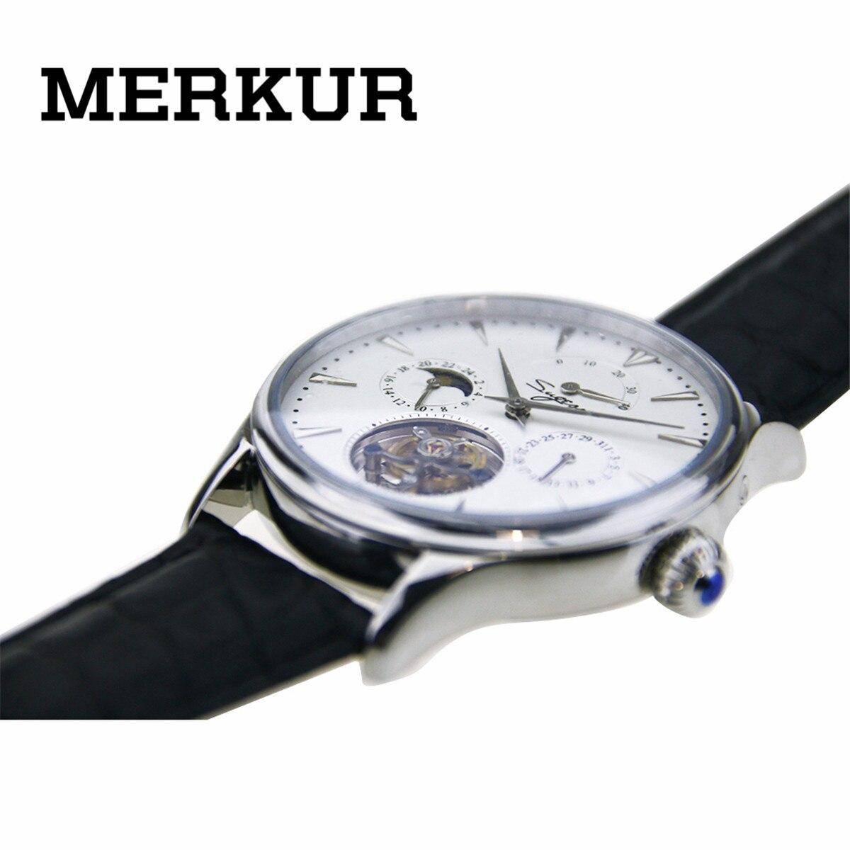 ★  Наручные часы SEAGULL Movement Sugess Tourbillon Мужские наручные часы Календарь с автоподзаводом За ①