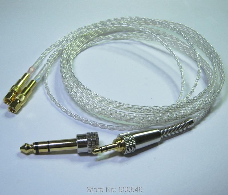 1.8 m 6ft El Yapımı 8 çekirdek 5N OCC Düz örgü Gümüş kaplama - Taşınabilir Ses ve Görüntü - Fotoğraf 3