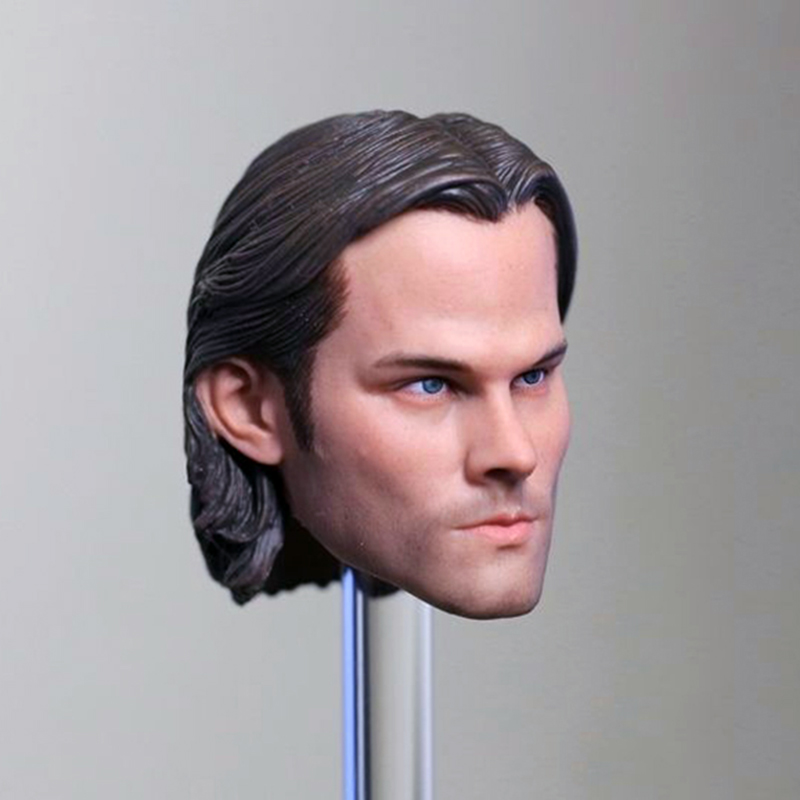 1/6 Scale Supernatural Sam Winchester Jared Padalecki Head Sculpt Head Carving Model Collectible Doll Toys Accessories чехол для iphone 6 глянцевый printio sam winchester
