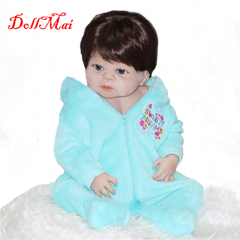Bebe fille reborn 22 pouces Reborn bébés silicone complet bébé poupées reborn vivant nouveau-né bébé poupées enfant garçons jouets cadeau