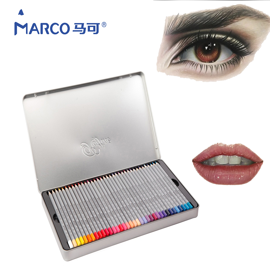MARCO 24/36/48/72Colors Lapis De Cor Prismacolor Colored Pencil Set For Drawing Sketching Stationery Pencil School Art Supplies marco 12cb 2h 8b sketch pencils drawing sketching pencil set for school student sketch gift stationery art supplies lapis de cor
