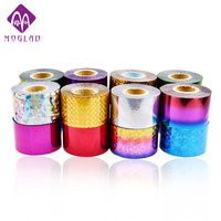 2 Rolls 66Colors Options Hot Nail Art Foils 4cm 120m Nail Transfer Foil Paper UV Gel