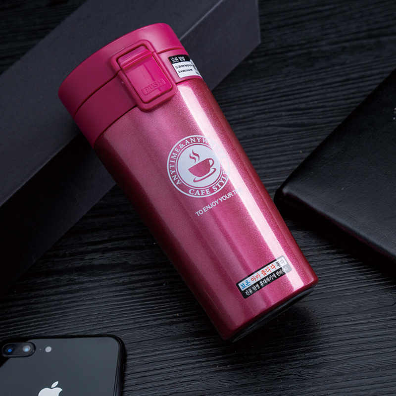 Stainless Steel Water Bottle Premium Travel Coffee Mug Thermos Tumbler Cups Vacuum Flask Thermo Water Bottle Tea Mug Thermocup