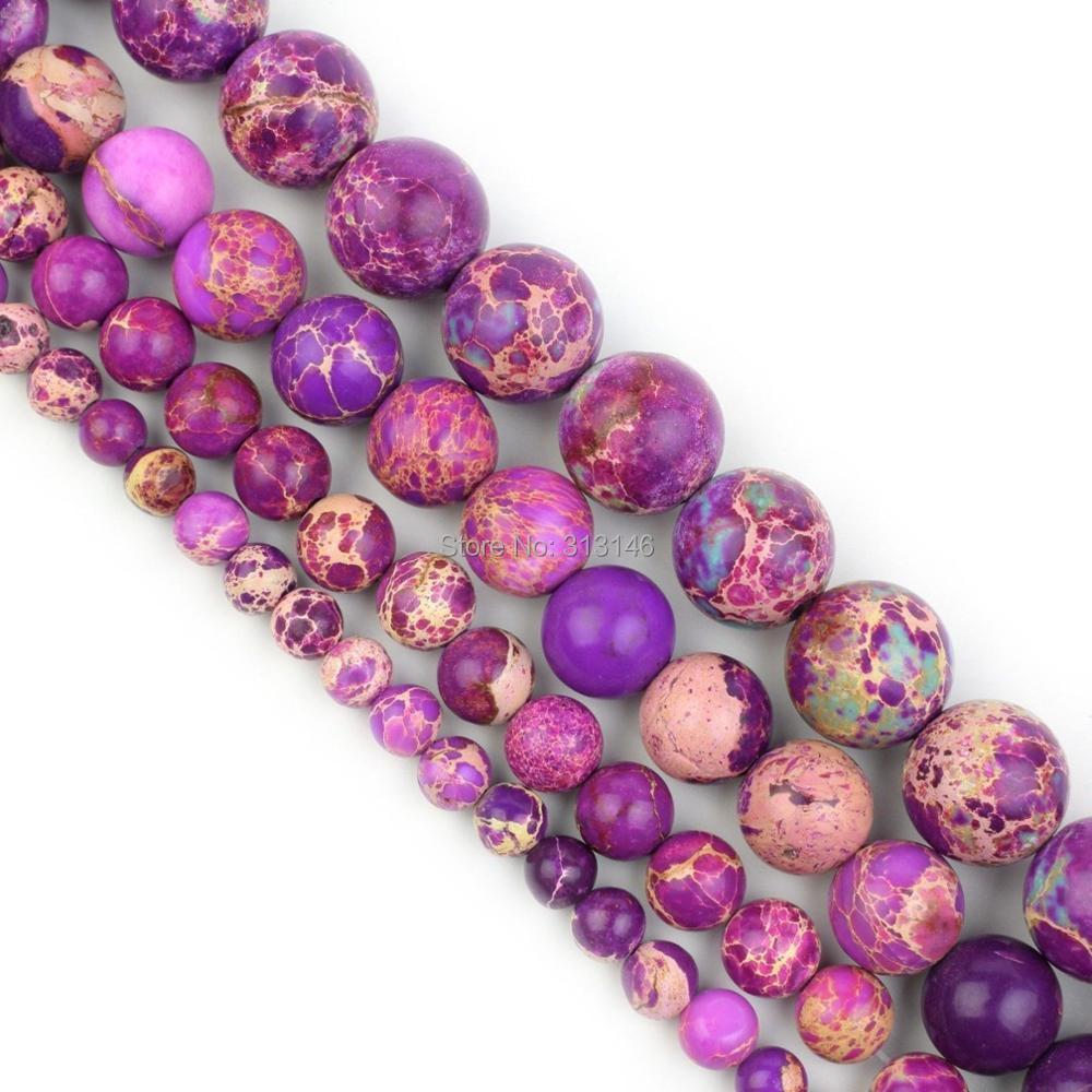 Royal Blue Shoushan Stone Gemstone Round Beads Sea Sediment Jasper Shoushan Jasper For Jewelry Making 6mm 8mm 10mm