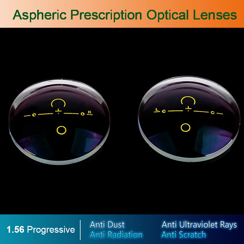 1.56 Digitala fria Progressive Aspheric Optical Eyeglasses Prescription Linser