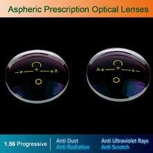 1.56 lentes de prescrição óticas asféricas e progressivas, sem forma digital, para óculos de grau