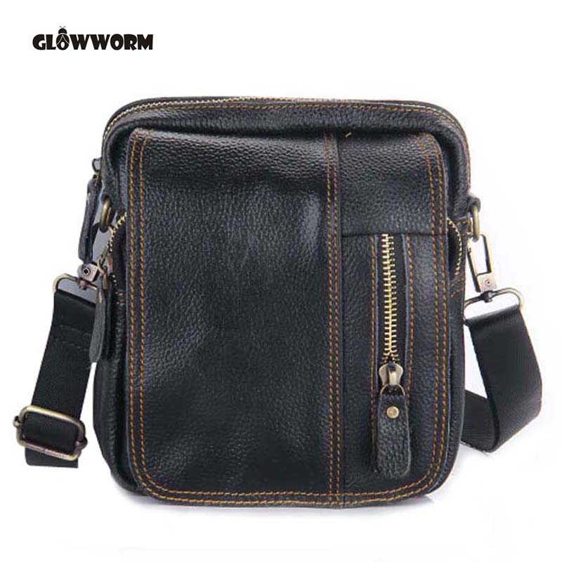 Hot Sale Genuine Leather Men Bags Small Crossbody Shoulder Handbag Casual Man Leather Messenger Mini Bags Male Bag CX197 men and women bag genuine leather man crossbody shoulder handbag men business bags male messenger leather satchel for boys