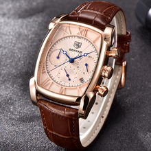 BENYAR Mens Watches Top Brand Luxury Rectangle Casual fashion Watch Me